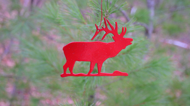 Elk Ornament (Red)