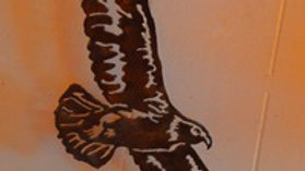 Soaring Eagle Rustic Copper Wall Hanging