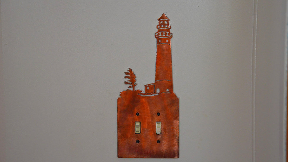 Windy Shores Lighthouse Double-Toggle Switch Plate