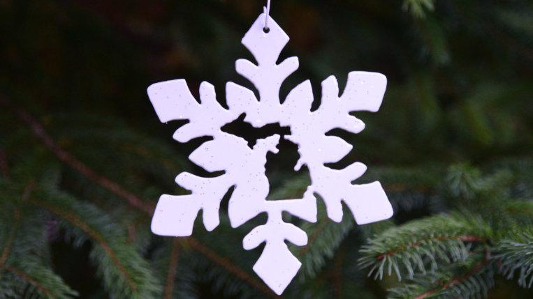 Michigan Snowflake Ornament (Style 3)