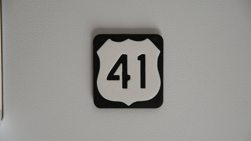 U.S 41 road sign magnet