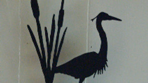 Heron in Cattails Candle Holder