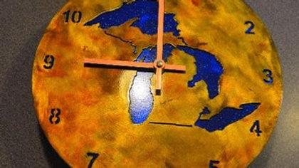 Great Lakes Rustic Copper Clock