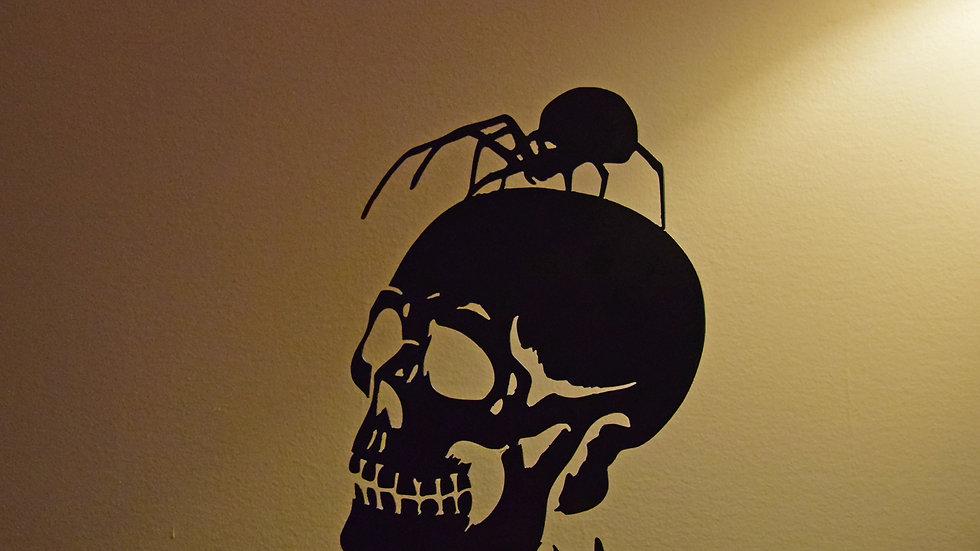Skull & Spider Tea Light Holder
