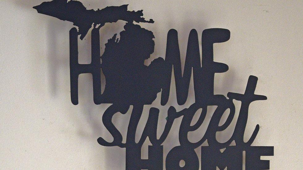 "Michigan ""Home Sweet Home"" Wall Hanging"