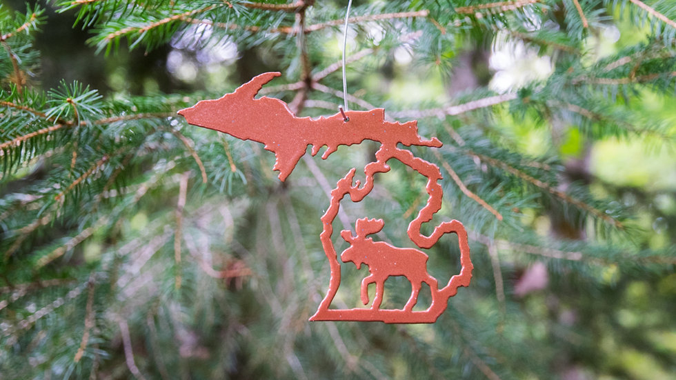 Moose in Michigan ornament