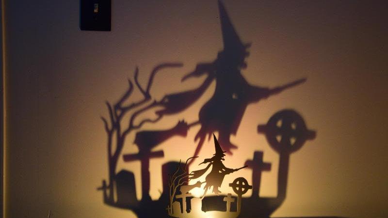 Flying Witch ShadowCaster Tea Light Holder