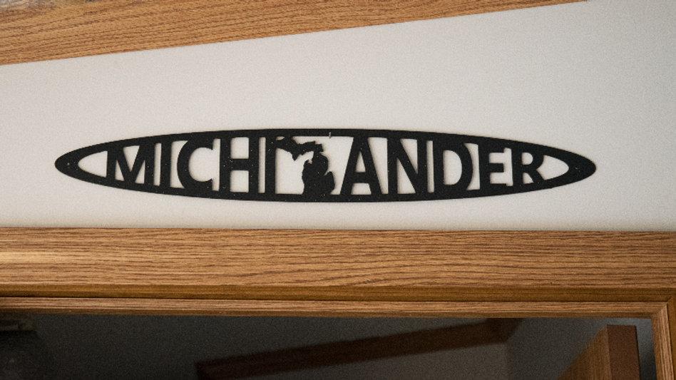 Michigander wall hang- black