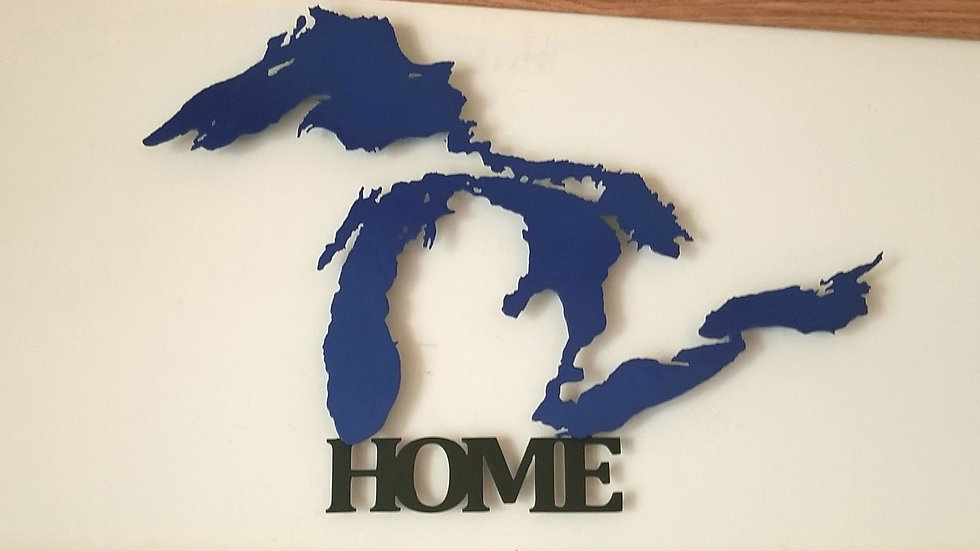 "Great Lakes ""Home"" wall hang"