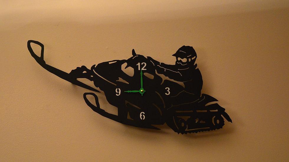 Snowmobiler Clock