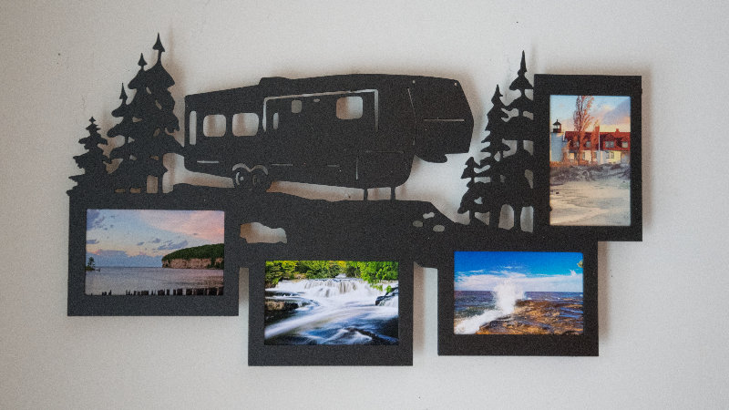 Fifth wheel 4 photo picture frame