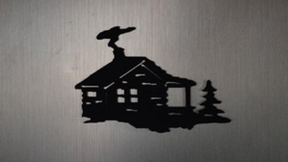 Log Cabin Magnet