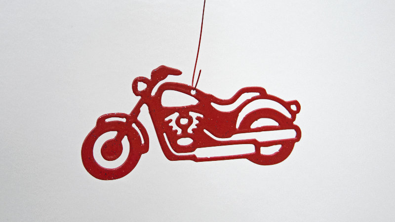 Harley ornament-metallic red