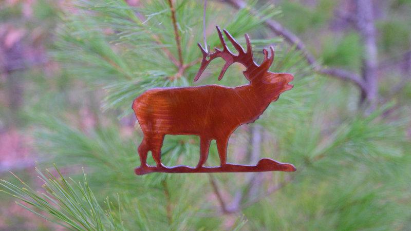 Elk Ornament (Rustic Copper)
