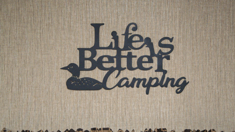 Life is better camping wall art