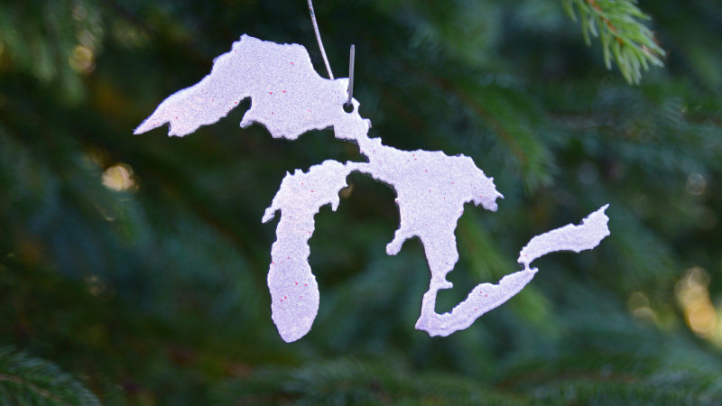 Great Lakes Ornament (Silver)