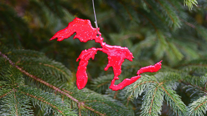 Great Lakes Ornament (Red)