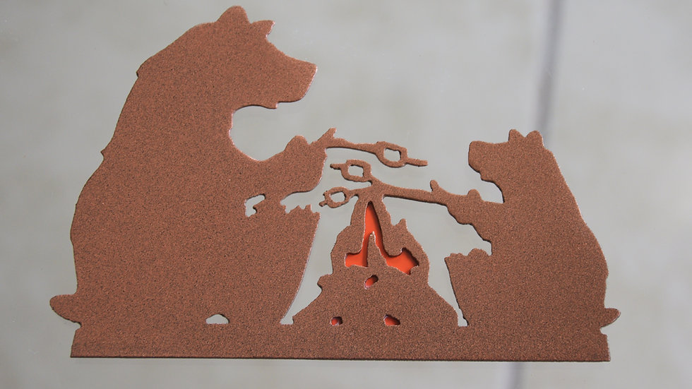 Bears Roasting Marshmallows Magnet