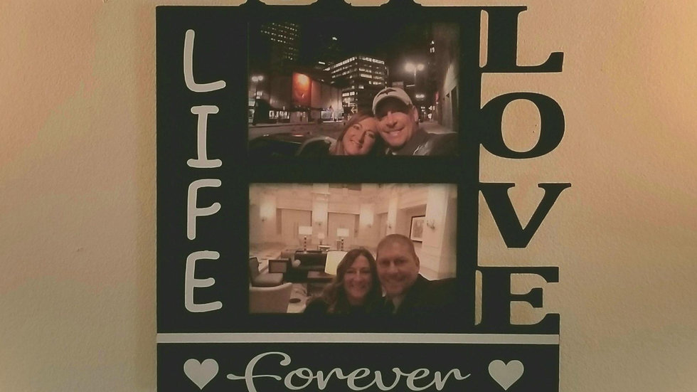 My love my life hanging frame