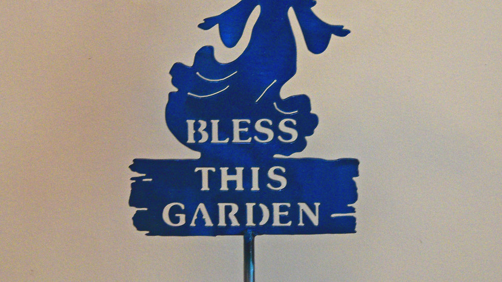 """Bless This Garden"" Angel Garden Stake"