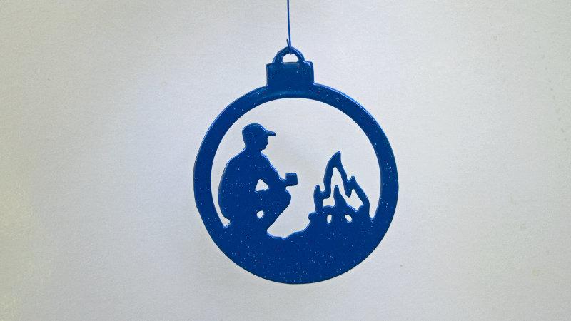Camping ornament