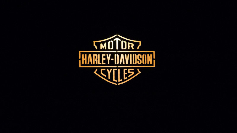 "Harley Motorcycles solar light box 12"" x 9"""