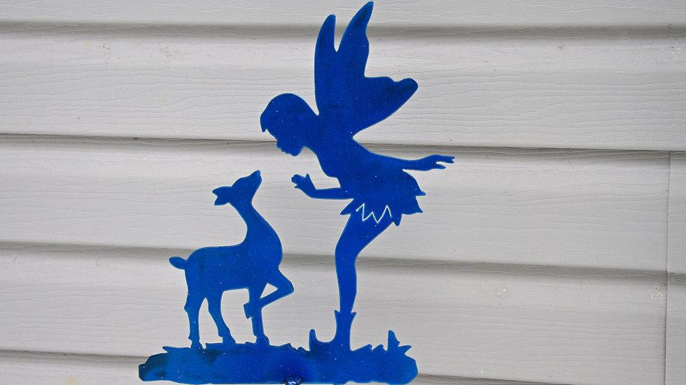 Fairy & Deer Garden Stake
