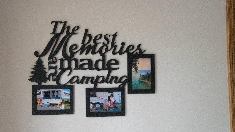 Camping memories 3 photo frame wall hang