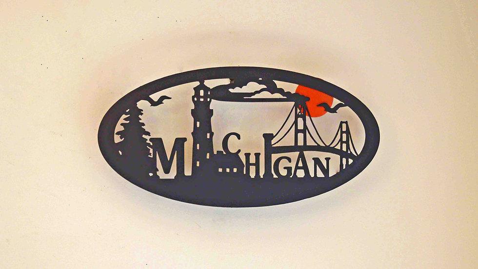 Michigan Mighty Mac Wall Hanging