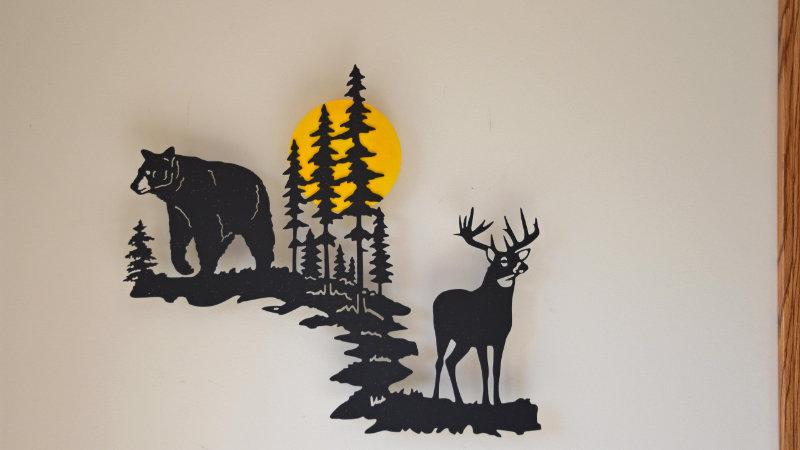Buck and bear wall art