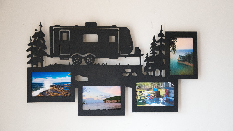 Travel trailer 4 photo wall hanging frame