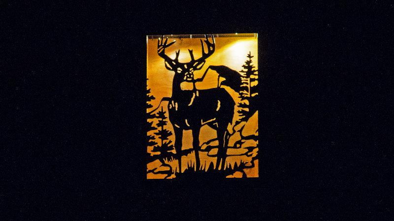 "Big buck-large solar double light 16"" x 12"""