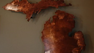 Michigan Copper Patina Wall Hanging