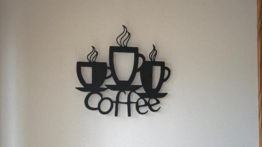 Coffee cups wall art
