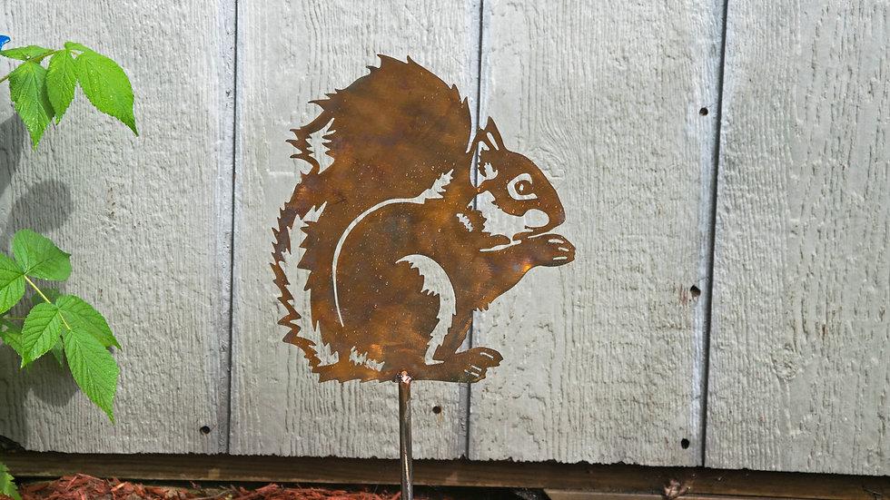 Squirrel Garden Stake