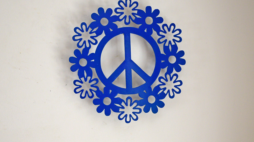 Peace Sign w/ Flower Border Wall Hanging