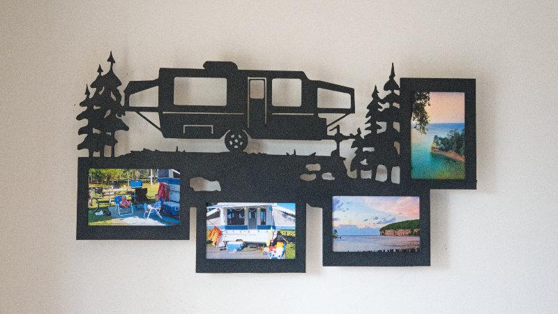 Pop up camper 4 photo picture frame