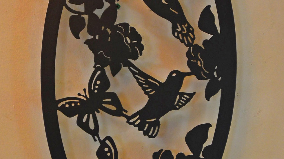 Hummingbirds & Butterflies Wall Hanging