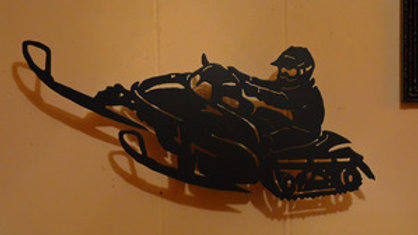 Snowmobiler Wall Hanging