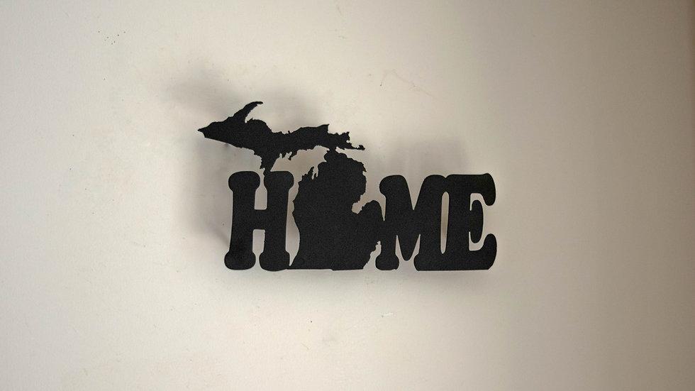 "Michigan ""Home"" Wall Hanging"
