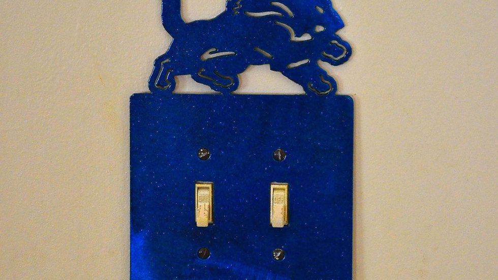 Detroit Lions Double-Toggle Switch Plate