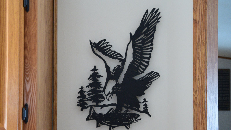 Eagle with Trout wall hang