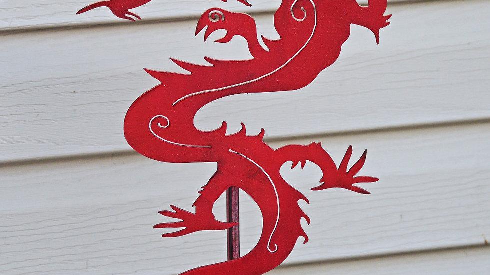 Red Dragon Garden Stake