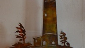 Windy Shores Lighthouse Rustic Copper Wall Hanging