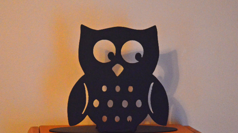 Skinny Owl Candle Holder