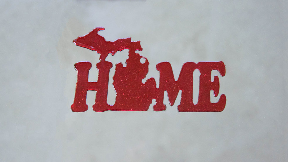 "Michigan ""Home"" Ornament"
