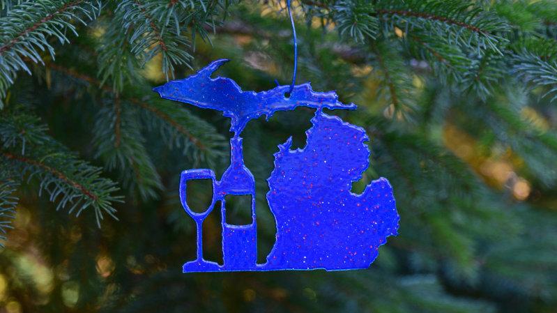 Michigan & Wine Ornament