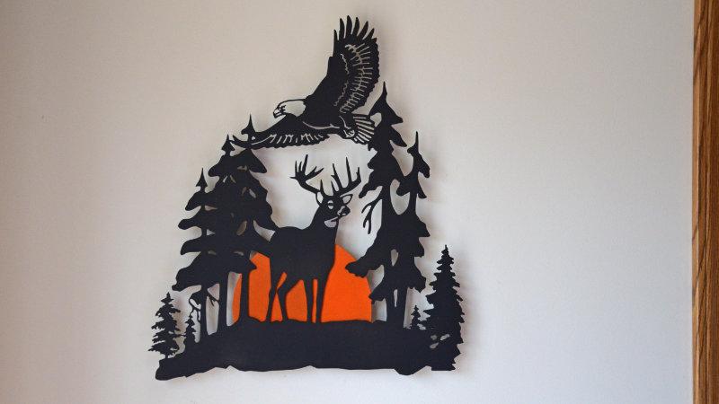 Majestic buck and Eagle wall hang