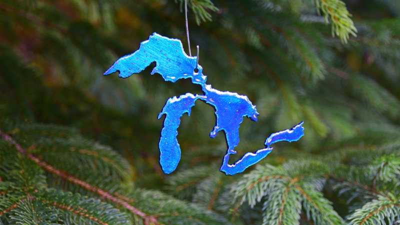Great Lakes Ornament (Blue)
