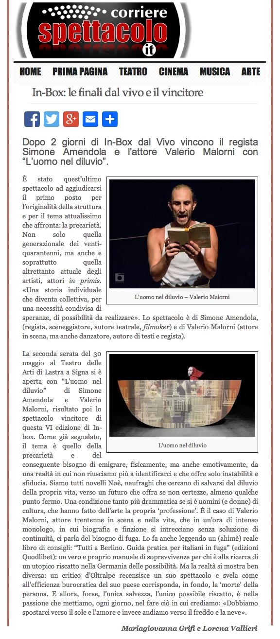 Corriere Spettacolo